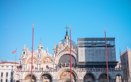 saint mark's: Architectural detail of St Mark Square, Venice.