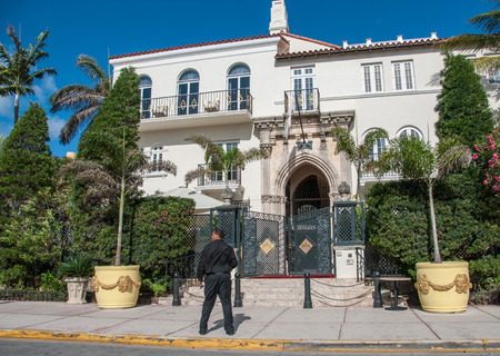 doorstep: MIAMI - FLORIDA - USA - CIRCA APRIL 2009: Versace mansion. In 1997 the world gasped as Gianni Versace was shot to death on the doorstep of his Miami South Beach home Editorial