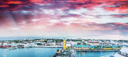 caribbean island: Beaufiful coast of Caribbean Island, panoramic view.