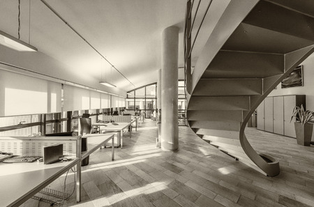 현대적인 사무실 인테리어.