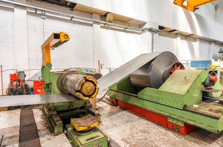 Industrial machine for steel cutting. photo