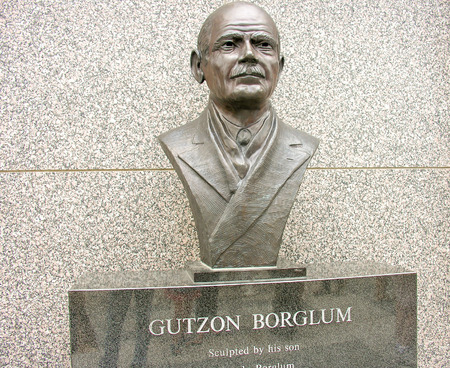 MOUNT RUSHMORE, SOUTH DAKOTA - CIRCA JUNE 2005: Gutzon Borglum statue. He was a leading figure in the Abolitionist movement.