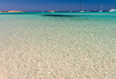 formentera: Ses Illetes Beach in Formentera, Spain.