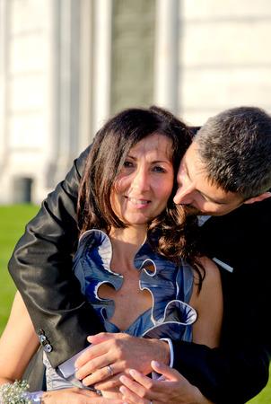 intymno: Narzeczona i Groom Intymność po weselu, Włochy