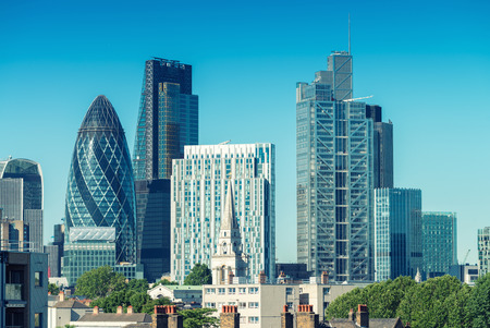 City of London. Skyline on a beautiful summer day. Stock Photo
