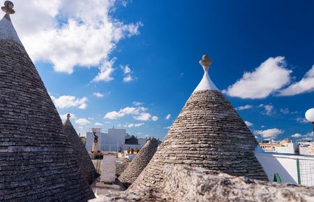 trulli: Famous Trulli of Alberobello, Italy.