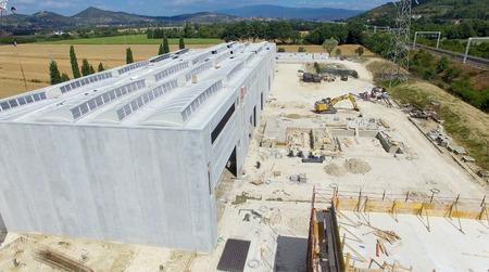 concrete commercial block: Building site, working in progress. Stock Photo