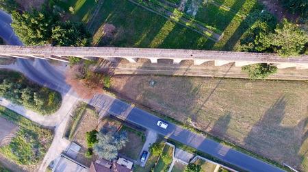 aqueduct: Lucca. Aerial view of ancient aqueduct. Stock Photo
