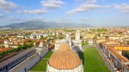 piazza dei miracoli: Aerial view of Miracles Square, Pisa. Piazza dei Miracoli .
