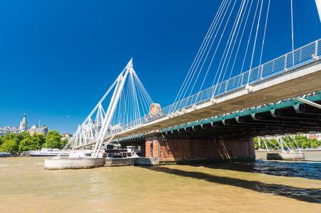 jubilee: Jubilee Bridge in London over river Thames. Stock Photo