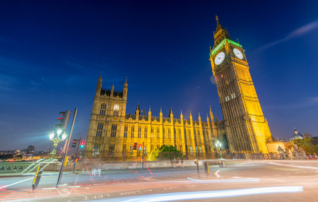 city of westminster: Westminster at night. London city lights.