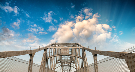 bourne: Sagamore Bridge, MA. Stock Photo