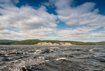 lawrence: Waters of Saint Lawrence river in Tadoussac.