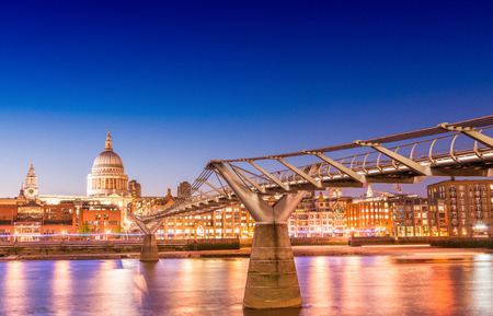 magnificence: Magnificence of Millennium Bridge, London - UK. Editorial