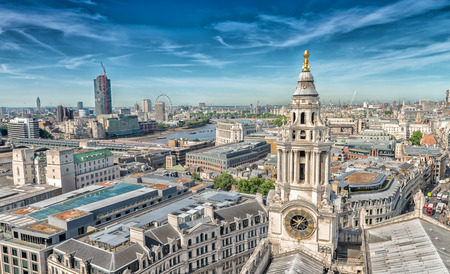 paul: London skyline from St Paul Cathedral.