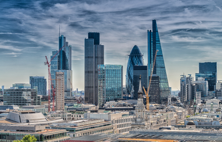 London City. Modern skyline of business district. Stok Fotoğraf