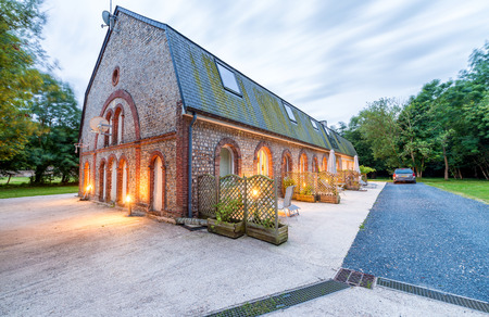 french countryside: Ancient house in French countryside. Editorial
