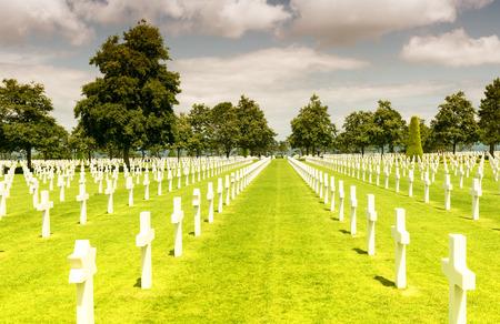 omaha: American War Cemetery at Omaha Beach, Normandy (Colleville-sur-Mer). Editorial