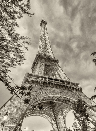 magnificence: Magnificence of Tour Eiffel in Paris. Stock Photo