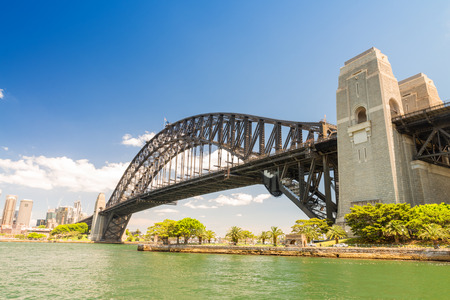 new south wales: Sydney Harbour Bridge, New South Wales, Australia. Stock Photo