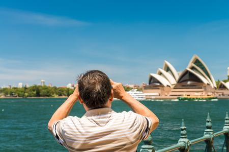 utzon: SYDNEY - OCTOBER 12, 2015: The Sydney Opera House. It was designed by Danish architect Jorn Utzon Editorial