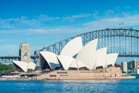 utzon: SYDNEY - OCTOBER 12, 2015: The Sydney Opera House. It was designed by Danish architect Jorn Utzon.