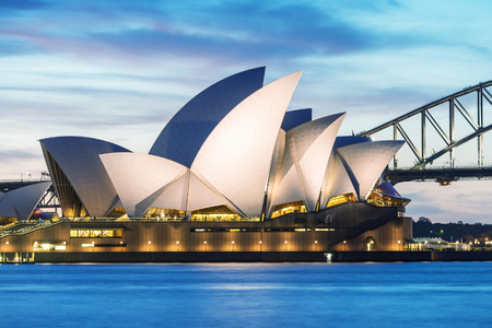 SYDNEY - OCTOBER 12, 2015: The Iconic Sydney Opera House is a multi-venue performing arts centre also containing bars and outdoor restaurants. Stock Photo - 48688012