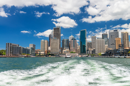 new south wales: Sydney, New South Wales. City skyline on a beautiful day. Editorial