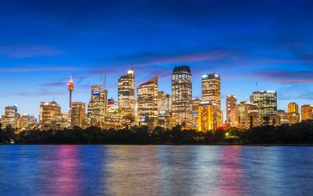 Wonderful night skyline of Sydney, Australia. 스톡 콘텐츠