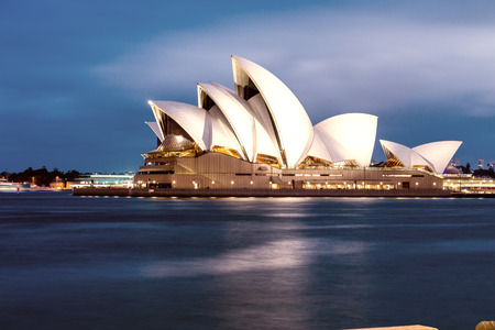 SYDNEY - OCTOBER 12, 2015: The Sydney Opera House. It was designed by Danish architect Jorn Utzon.