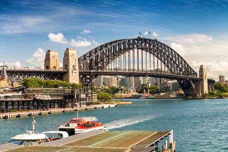 Beautiful view of Sydney Harbour Bridge.