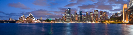 Sydney, Australia. Amazing skyline at dusk. Banque d'images