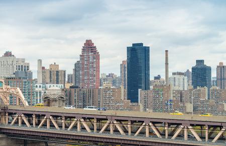 queensboro bridge: New York buildings over Queensboro Bridge.