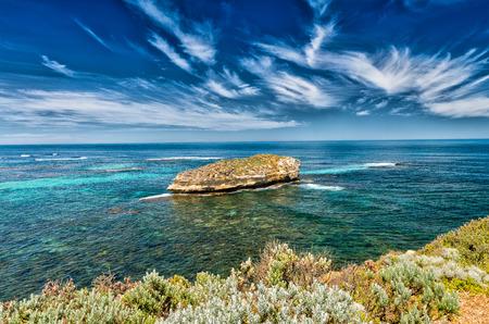 vegetation: Rocks, vegetation and ocean of Victoria, Australia.