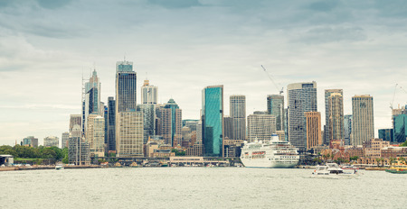 new south wales: Giant panoramic view of Sydney Harbour, New South Wales, Australia.