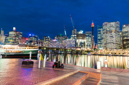 Lights of Darling Harbour, Sydney.