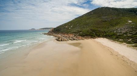 wilsons promontory: Aerial view of Wilsons Promontory coastline, Australia.