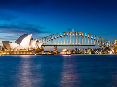 Sydney Harbour, New South Wales, Australia. Redactioneel