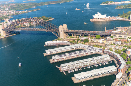 magnificence: Magnificence of Sydney skyline, aerial view.