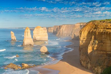 twelve: The Twelve Apostles at dawn, Australia.