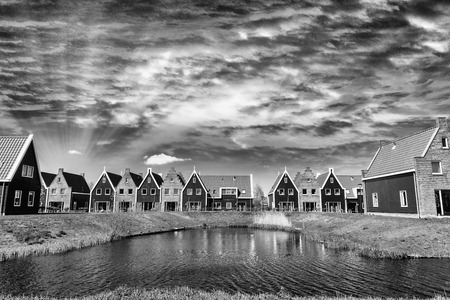 volendam: Classic homes of Volendam, Netherlands.
