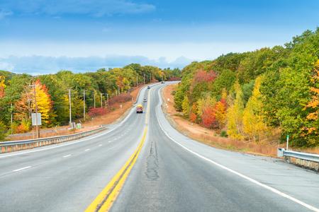 northeast: New England foliage, USA.