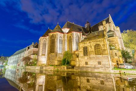Medieval buildings of Gent, Belgium.