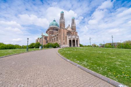 coeur: Sacre Coeur Cathedral in Brussels, Belgium.