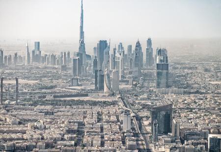 Dubai aerial skyine, UAE.