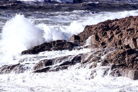 seascape: View of storm seascape.