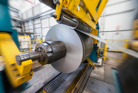 metales: Acerías interior, equipos y materiales. Concepto industrial y de negocios. Foto de archivo