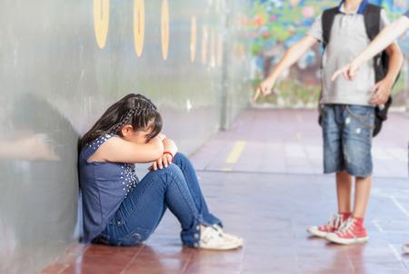 School bullying. Racial isolation. Stock Photo
