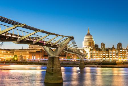 millennium: Millennium Bridge, London. Stock Photo