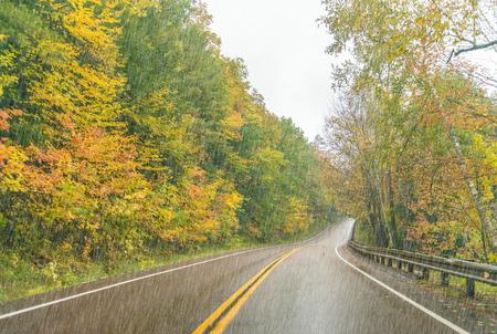 Heavy rain on New England foliage scenario.